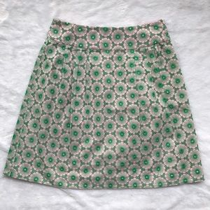 Lilly Pulitzer Green Floral Skirt